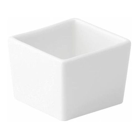 Anton Black Fine China Square Dish Deep 6.5cm (Box of 6)