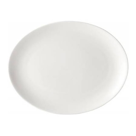 Pure White Porcelain Oval Plate 36cm (Box of 18)