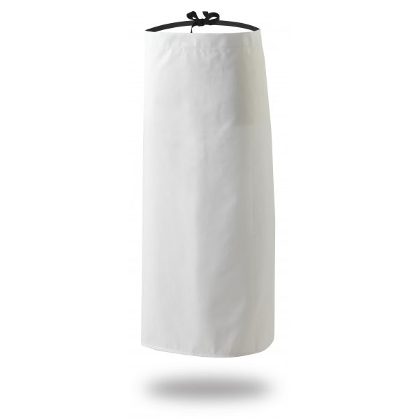 "Waist Apron White With Black Tapes 28"" X 33"""