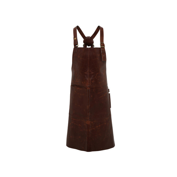 "Artisan Leather Cross Back Apron 28"" x 34"""