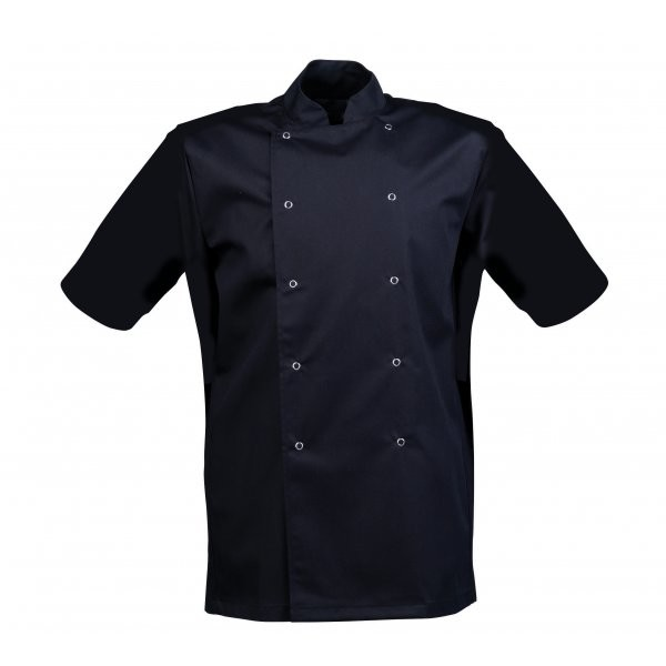 Black Windsor Chefs Jacket **Short Sleeves**