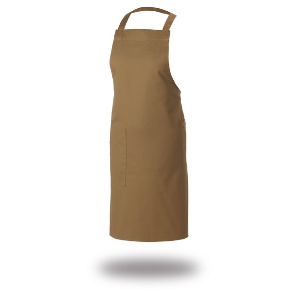 Le Chef DE109T Crossover Bib Apron Khaki Canvas