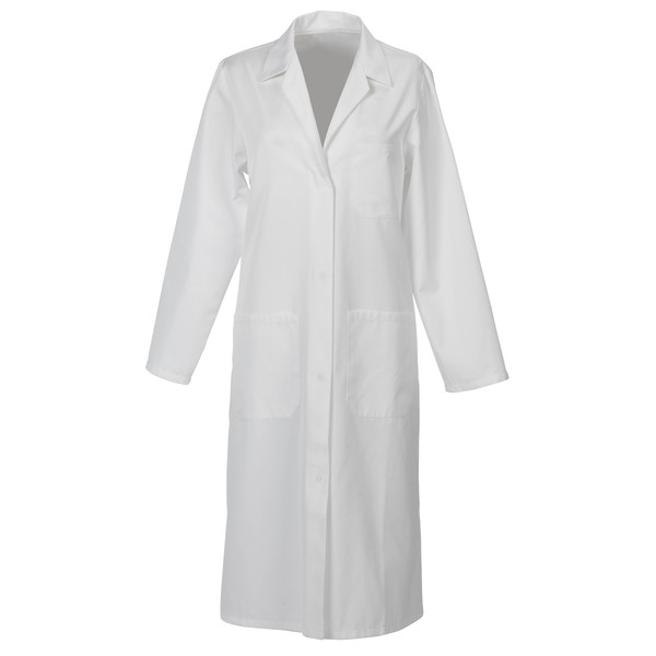 Russum Coat Lady's White Poly/Cotton