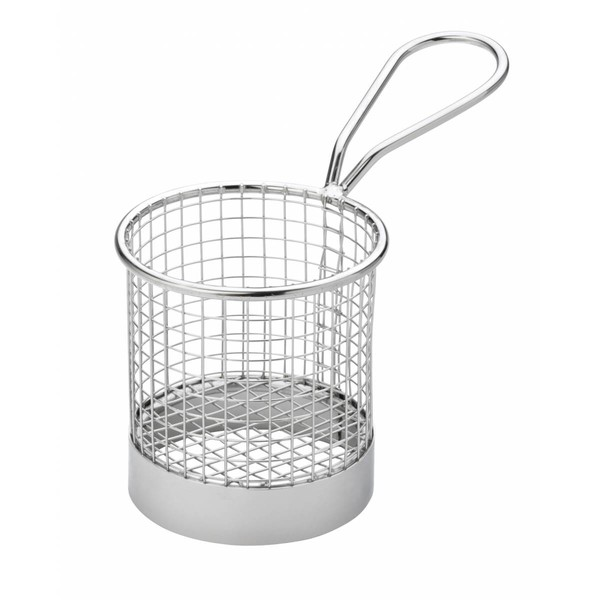Mini Frying Basket Round Stainless Steel 7.5cm Dia