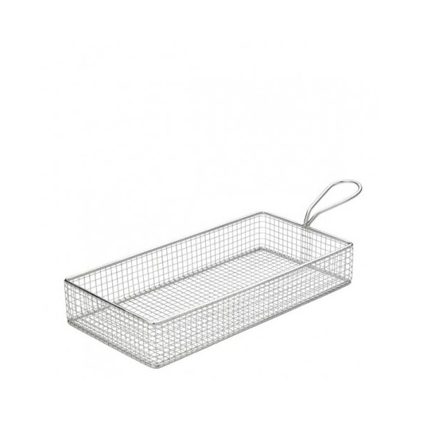 Mini Frying Basket Rectangular Stainless Steel 26cm X 13cm