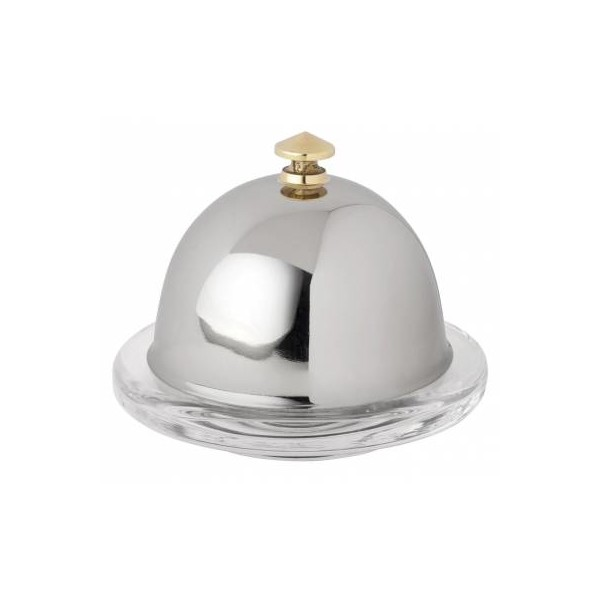 Dome For Butter Dish S/S 9cm Dia (Box Of 6)