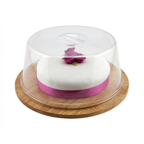 Clear Cover For SG467 Hevea Wood Cake Plate