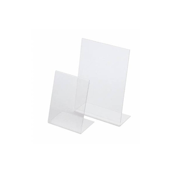 Menu Holder Perspex A4 Angled