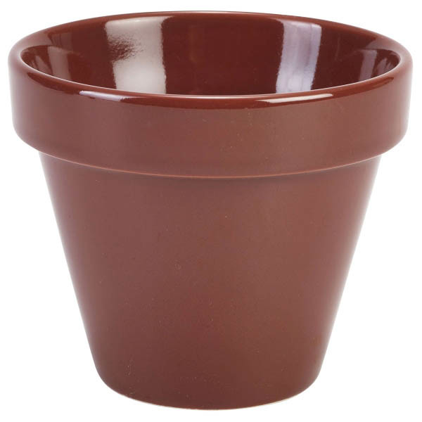 Glazed Porcelain Plant Pot 11.5cm X 9.5cm 50cl (Box Of 4)