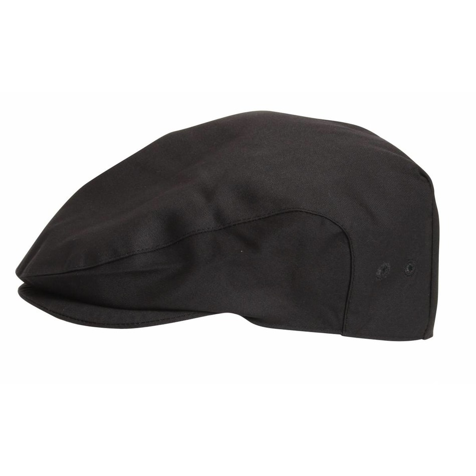 Le Chef DF02M Flat Cap Black CL453 50529ac967b