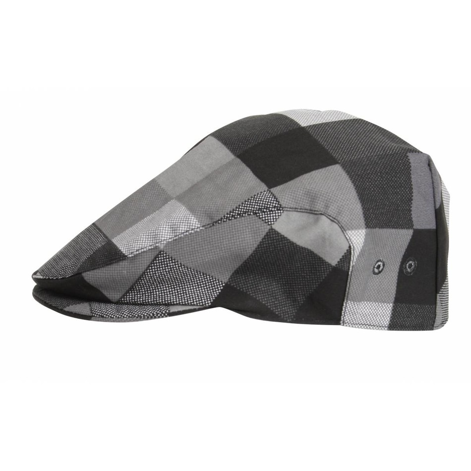 Le Chef DF02A Flat Cap Big Check Grey CL470 4c2df6c219b