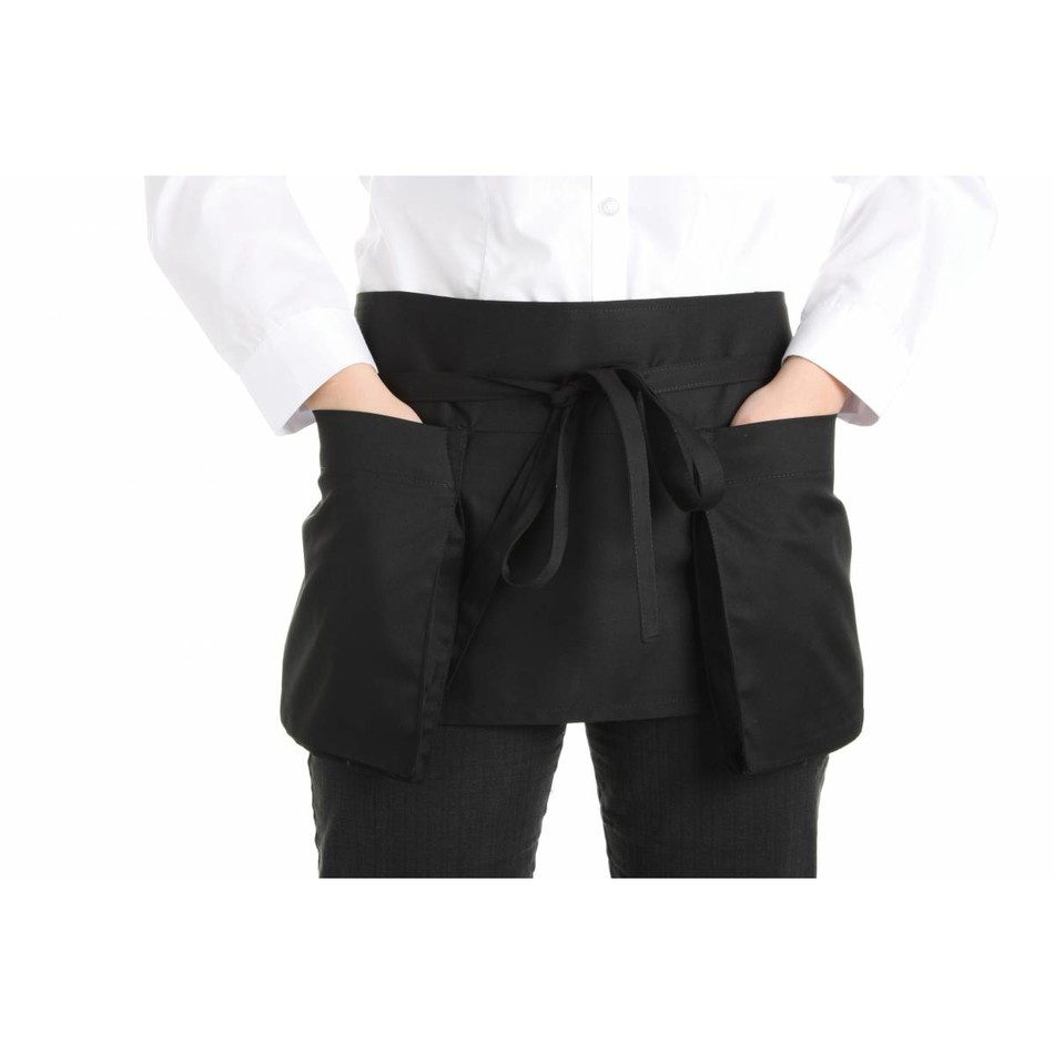 Waist Apron Double Pocket Black