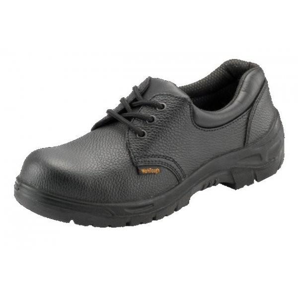 Chukka Shoe Black Grain Leather Protective