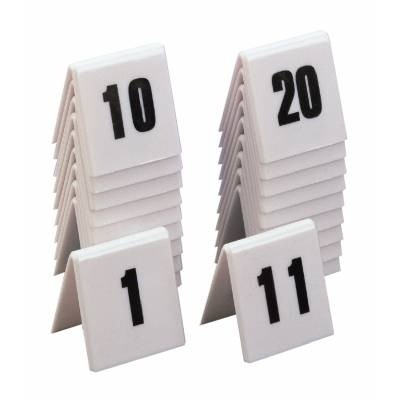 Numbers table plastic set of 10 11 20 - Set table plastique ...