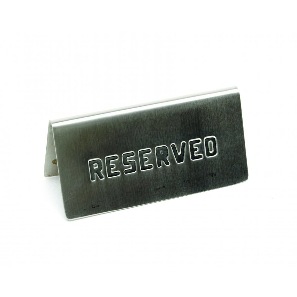 Stainless Steel Reserved Table Sign: Reserved Sign Stainless Steel