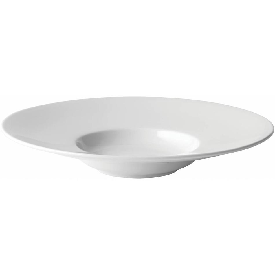 Anton Black Fine China Mira Wide Rim Soup Plate 9\